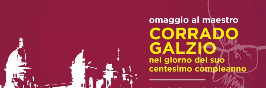 Omaggio al Maestro Corrado Galzio