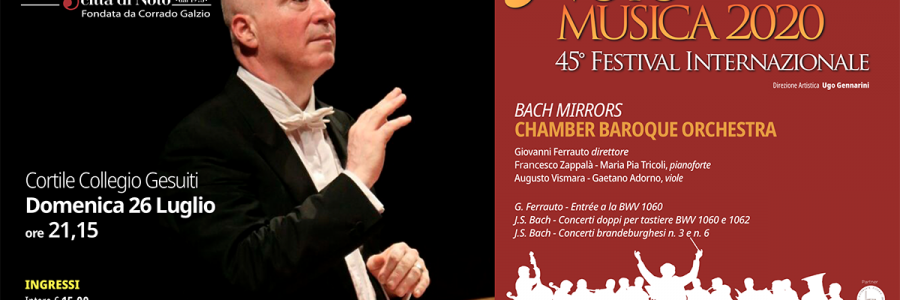Chamber Baroque Orchestra – Bach Mirrors