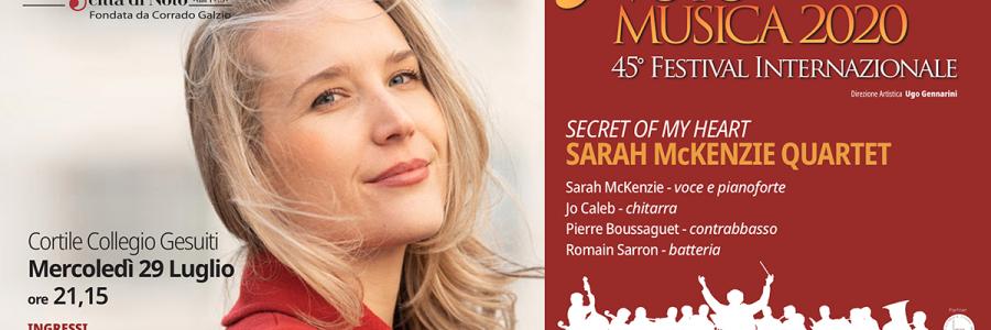 Cresce l'attesa per l'unica data sicilianadella cantante jazz Sarah McKenzie